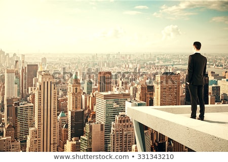 View over rooftops of a town Stock photo © photohome