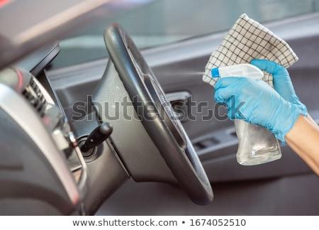 Schoonmaken auto ontharing procede hand druppels Stockfoto © wime