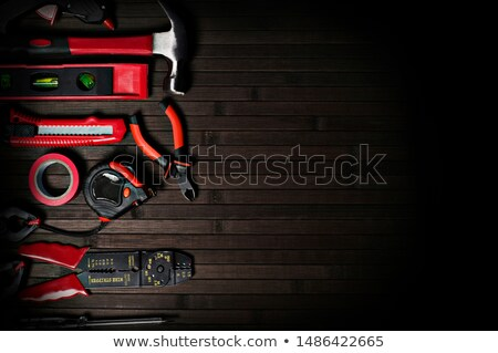 Tools on wooden background stock photo © supersaiyan3