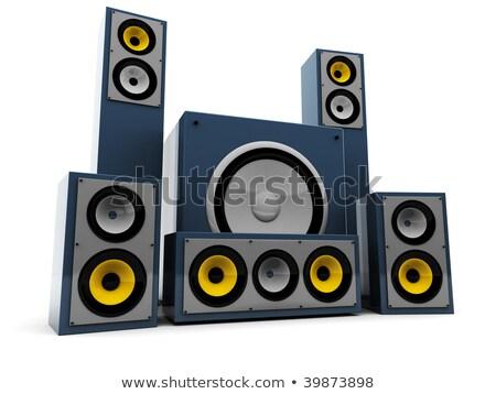 3D kék hangszóró hang fehér zene Stock fotó © Melvin07