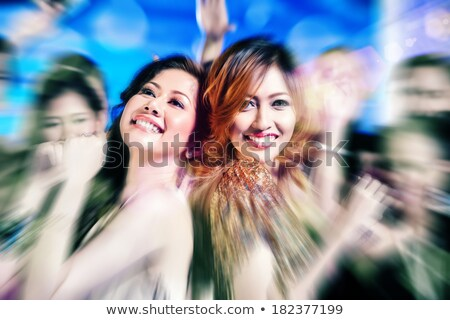 Asya kadın gece klübü disko parti arkadaşlar Stok fotoğraf © Kzenon