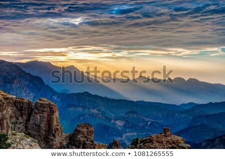 пейзаж гор Оман изображение небе дома Сток-фото © w20er