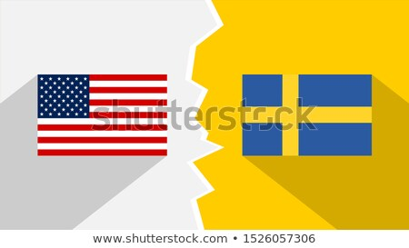 usa and sweden   miniature flags stock photo © tashatuvango