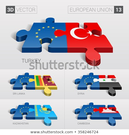 European Union and Cambodia Flags in puzzle Stock photo © Istanbul2009