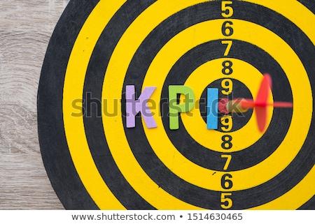 Data Processing - Arrows Hit in Red Target. Stock photo © tashatuvango