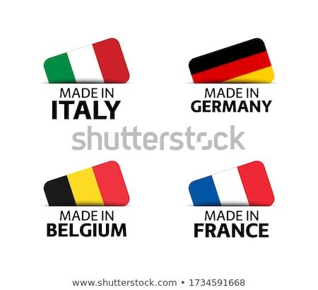 Frankreich Belgien Fahnen Puzzle isoliert weiß Stock foto © Istanbul2009
