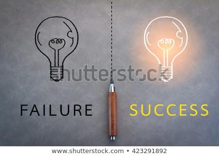 Ausfall Erfolg schwarzes Brett schreiben Business Bildung Stock foto © fuzzbones0