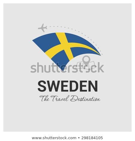 sweden flag on shirt stock photo © fuzzbones0