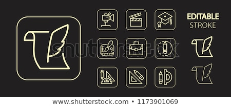 engineer golden vector icon button stock photo © rizwanali3d