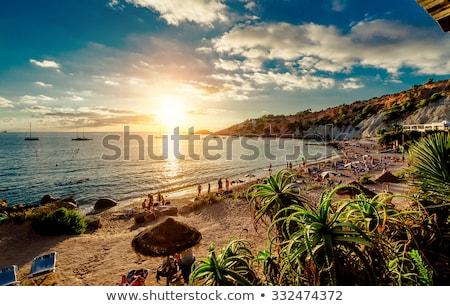 красивой · солнце · Blue · Sky · морской · пейзаж · небе - Сток-фото © lunamarina