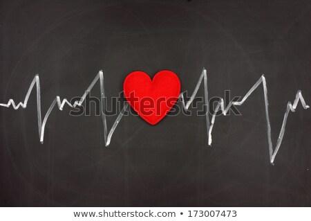 Batida de coração projeto amor coração quadro-negro Foto stock © tetkoren