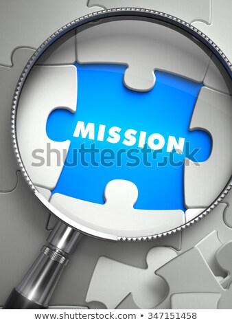 mission through lens on missing puzzle stock photo © tashatuvango