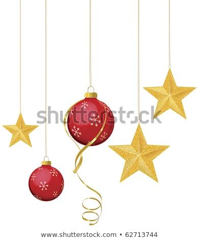 Piros csillag akasztás ág űr karácsony Stock fotó © fanfo