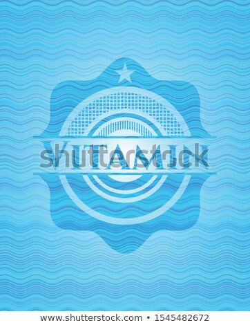 A vector illustration of blue and aqua different patterned Chris Stock photo © piccola