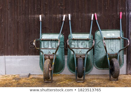 Carrinho de mão verde cor ilustração fundo metal Foto stock © bluering