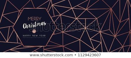 Christmas bericht groet wenskaart goede wensen Stockfoto © marimorena