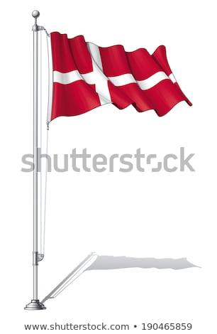 Waving Danish flag on the mast in Copenhagen, Denmark Stock photo © vladacanon