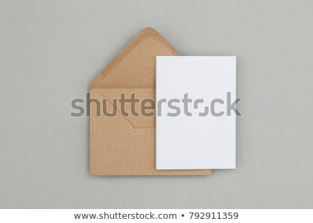Yukarı kâğıt kırtasiye şablonları bo üst Stok fotoğraf © Kazimirko