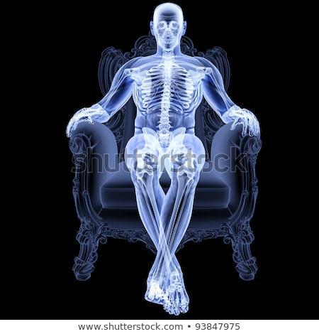 raio · x · transparente · coluna · médico · ilustração · 3d · homem - foto stock © tussik