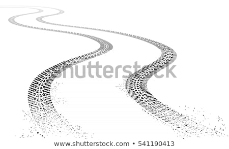 dirty tire tracks fading into the horizon Stock photo © SArts
