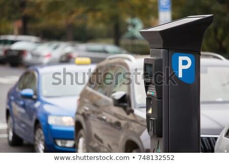 Zdjęcia stock: Parking · ilustracja · samochody · miejskich · policji · stop