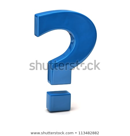 Azul ponto de interrogação branco 3D Foto stock © tang90246