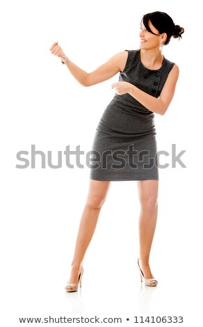Zakenvrouw touw witte groene macht Stockfoto © wavebreak_media