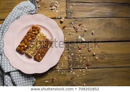 Drei trocken Früchte Bars Platte Stock foto © wavebreak_media