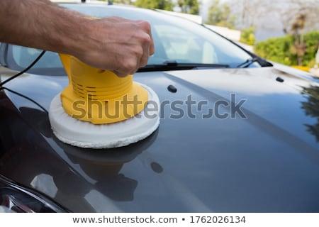 Auto usługi pracowników czyszczenia samochodu umyć Zdjęcia stock © wavebreak_media