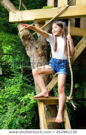 Fiú játszik gyermek jókedv színház fiatal Stock fotó © IS2