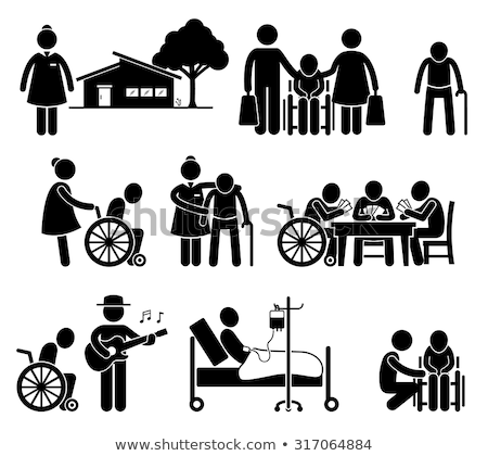 медсестры · человека · коляске · женщину · медицинской - Сток-фото © monkey_business