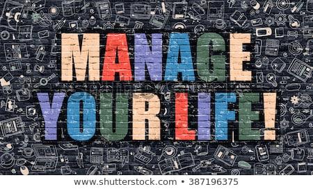 Control Your Life on Brick Wall. Stock photo © tashatuvango