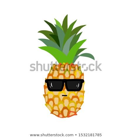 Ananas vruchten groene zonnebril eenvoudige ontwerp Stockfoto © hittoon