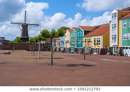 Wiatrak południe Holland Niderlandy morza latarni Zdjęcia stock © benkrut