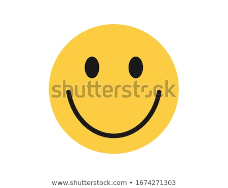 Simple Joy Yellow With Smiley Face Cartoon Character Stock photo © hittoon