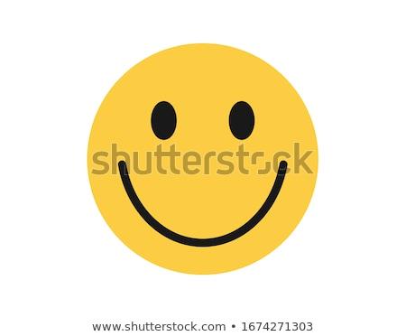 Simple alegría amarillo cara sonriente ilustración Foto stock © hittoon