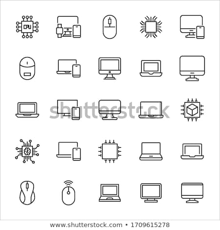 Linear Database, Server Isolated Flat Web Mobile Icon with info icon. Vector Illustration isolated o stock photo © kyryloff