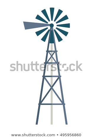 Wind Water Pump Isolated Flat Vector Illustration Stock photo © robuart