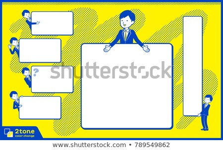 2tone type suit businessman_set 14 Stock photo © toyotoyo