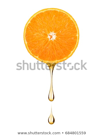 Orange slice sap druppels helling voedsel Stockfoto © cammep