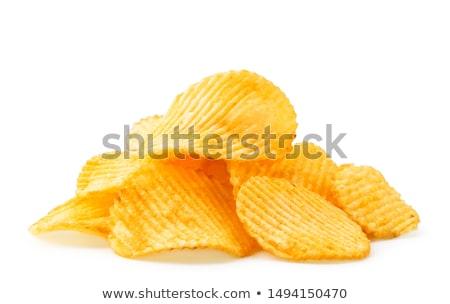 Stock photo: ridged potato chip