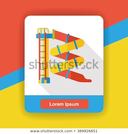 площадка слайдов набор белый иллюстрация дети Сток-фото © bluering