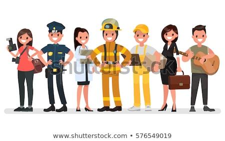 photographer worker set icons vector illustration stock photo © robuart