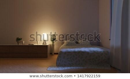 Quarto cena ilustração casa fundo Foto stock © colematt