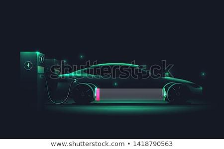 voiture · électrique · jeunes · heureux · homme · gare - photo stock © bluering