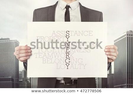 keresztrejtvény · tanácsadás · 3d · render · szó · doboz · levél - stock fotó © ivelin