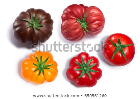 pembe · domates · yalıtılmış · beyaz · üst · görmek - stok fotoğraf © maxsol7