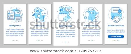 Sollicitatiegesprek app interface sjabloon managers naar Stockfoto © RAStudio