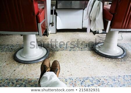Barbier stoel Rood kleur illustratie ontwerp Stockfoto © colematt
