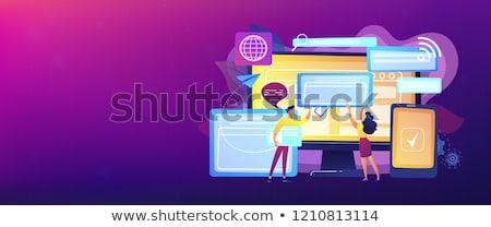 Bandeira navegador windows pc comprimido Foto stock © RAStudio
